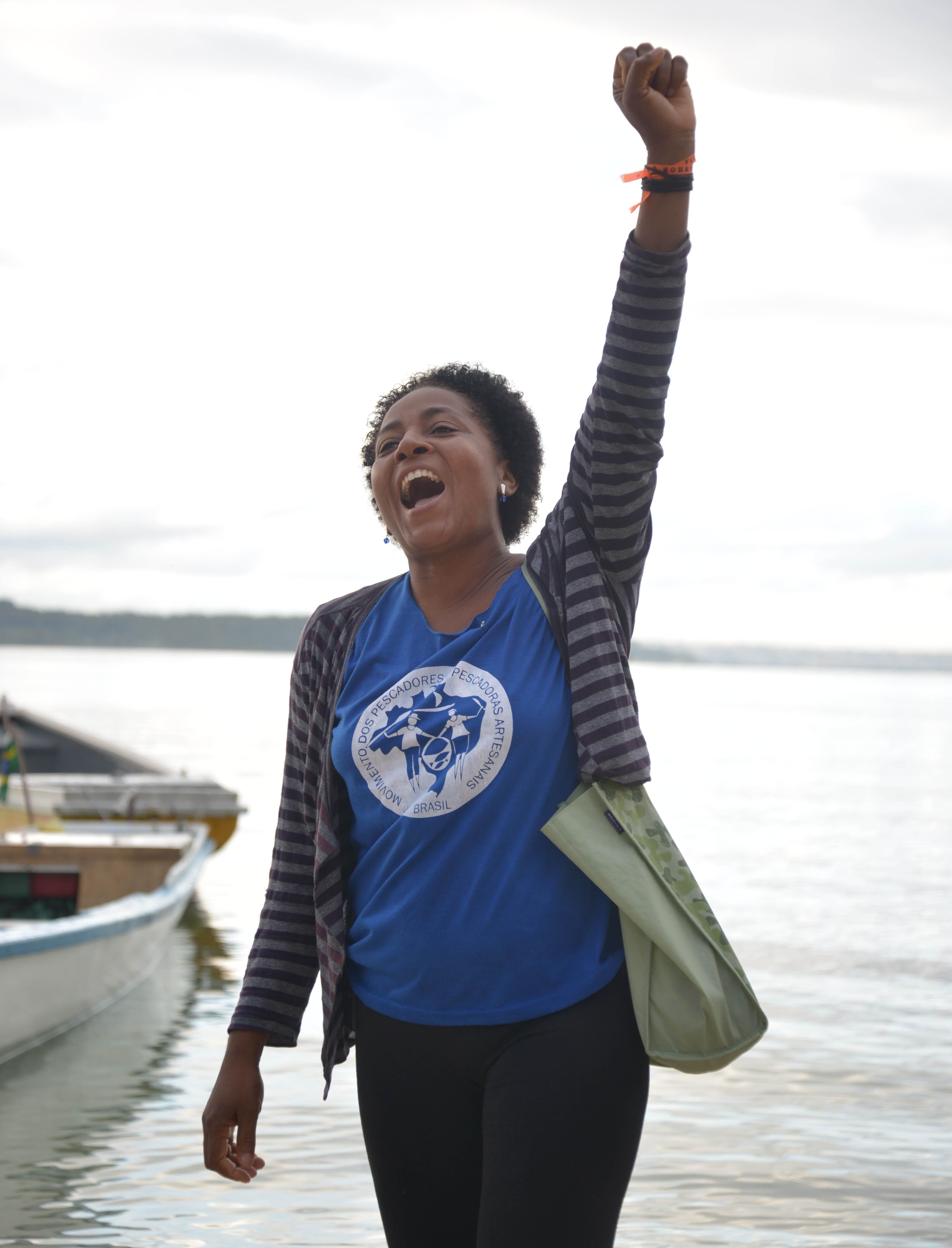 Mariselia Carlos Lopes (Nega) - Presidente da Associação de Pescadores da Ilha