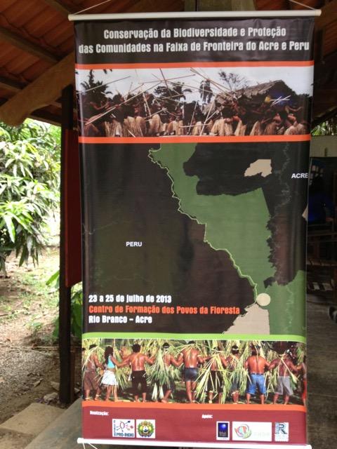 Banner de um dos projetos da Comissão Pró-Índio do Acre, realizado com apoio do Fundo Socioambiental CASA.