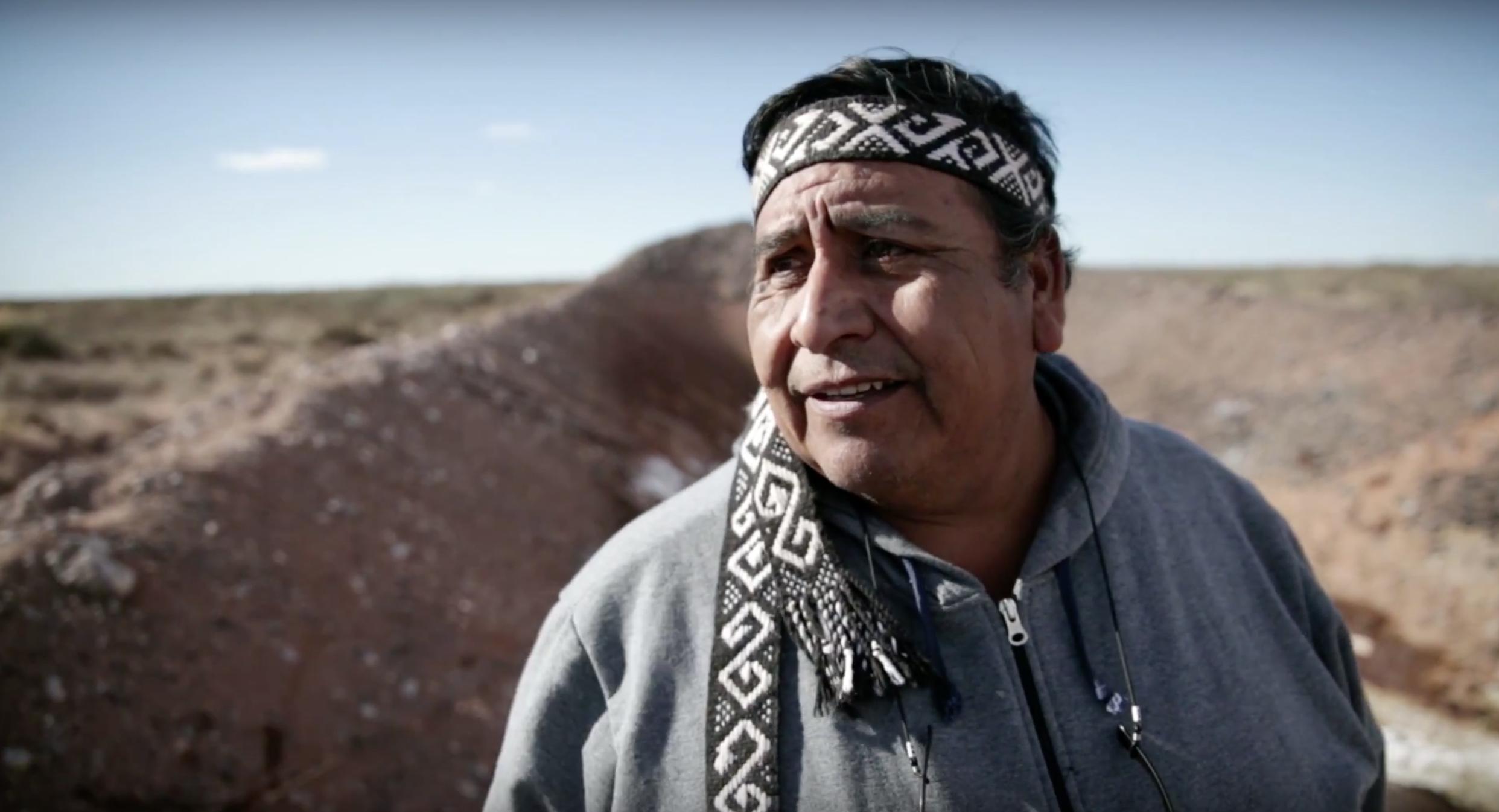 Logko Albino Campo, liderança do povo Mapuche. (Foto: Vaca Bonsai Audiovisual)