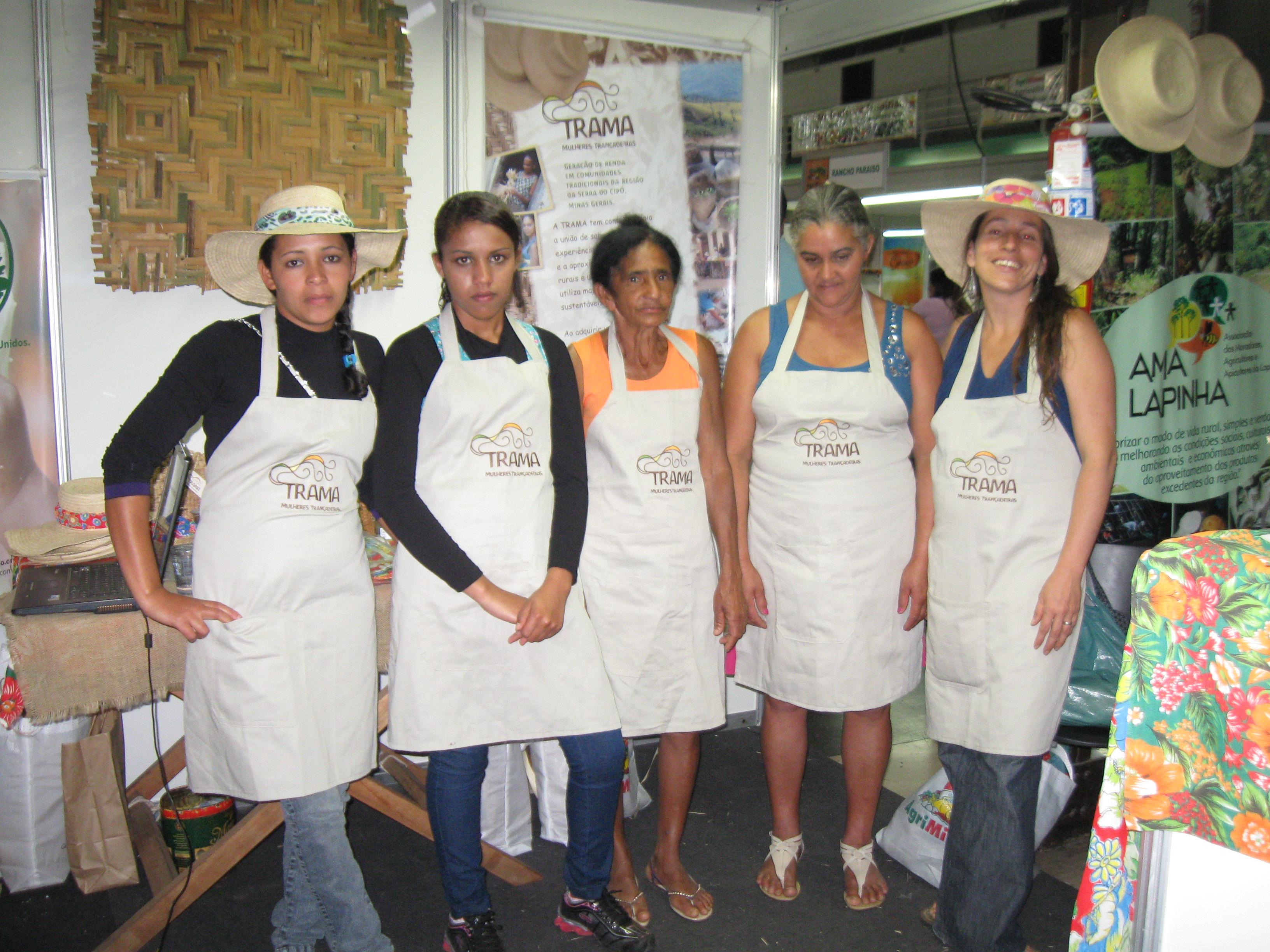 Grupo Trama na AGRIMINAS. Foto: AMA LAPINHA.