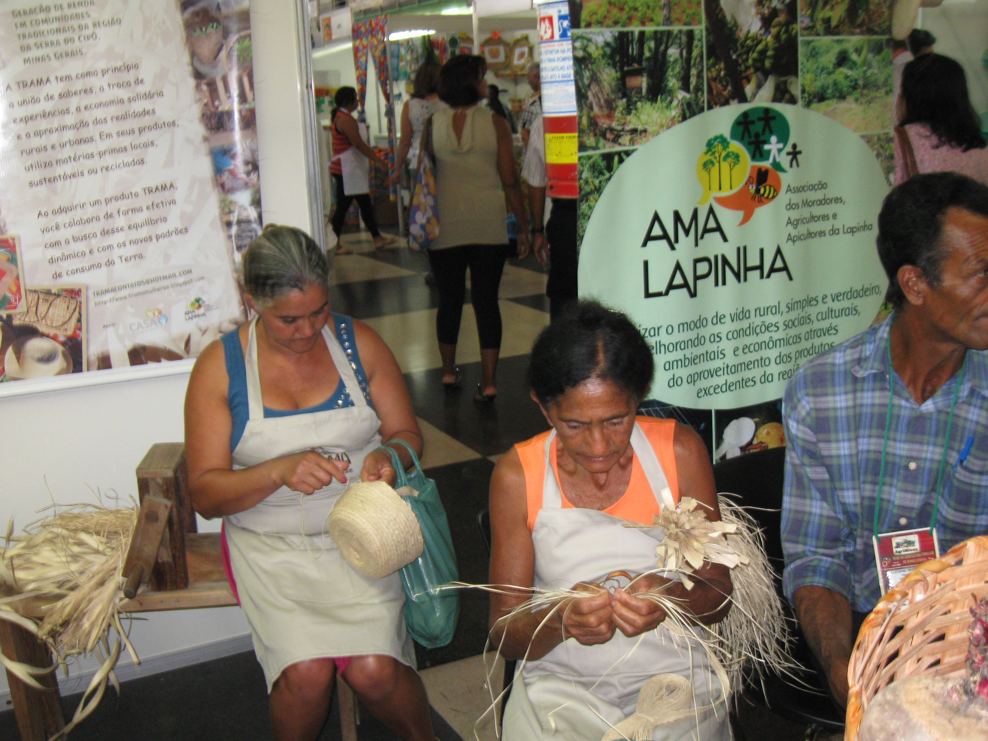 Grupo Trama na AGRIMINAS. Foto: AMA LAPINHA